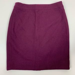 J Crew Factory Purple The  Pencil Skirt Size 0